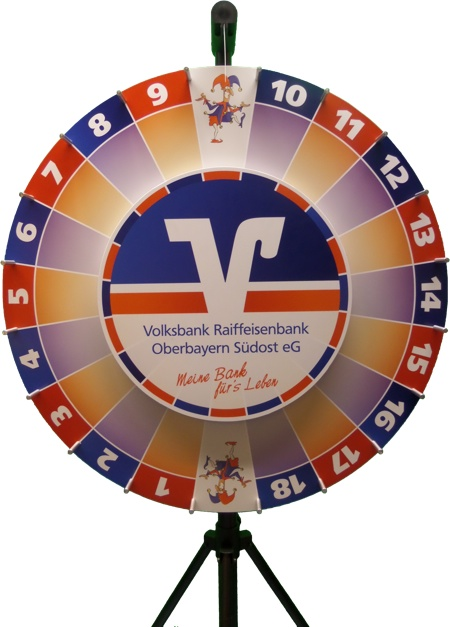 Wheel of fortune double small - Volksbank Oberbayern